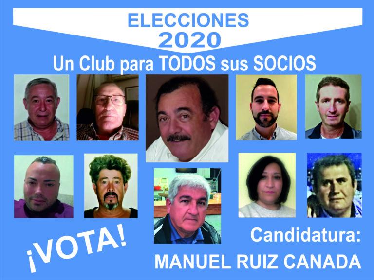 CANDIDATURA ELECCIONES MANUEL RUIZ CAÑADA